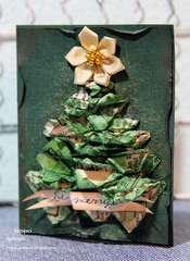 Christmas Tree Card * Donna Salazar Designs DT * And Spellbinders Holiday Hoppin' Blog Hop 2010