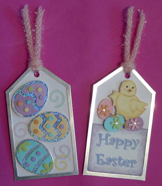 Easter medium size tags made for Handmade Holiday Swap