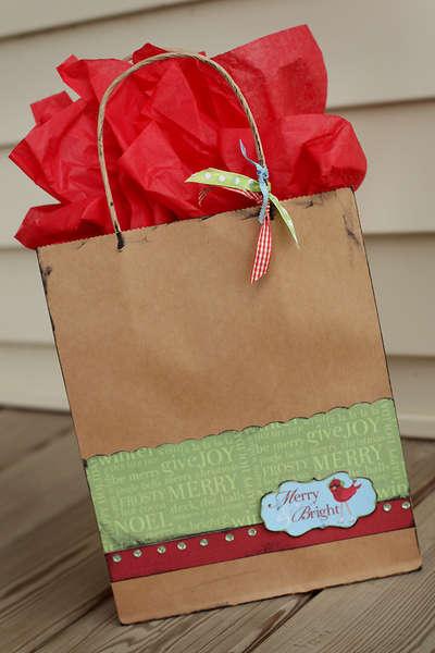 Embellished Gift Bag - Christmas