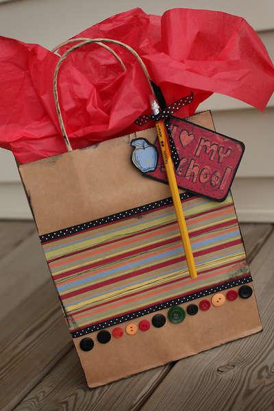 Embellished Gift Bag - Teacher