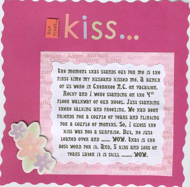 Pg 1 Our first kiss......