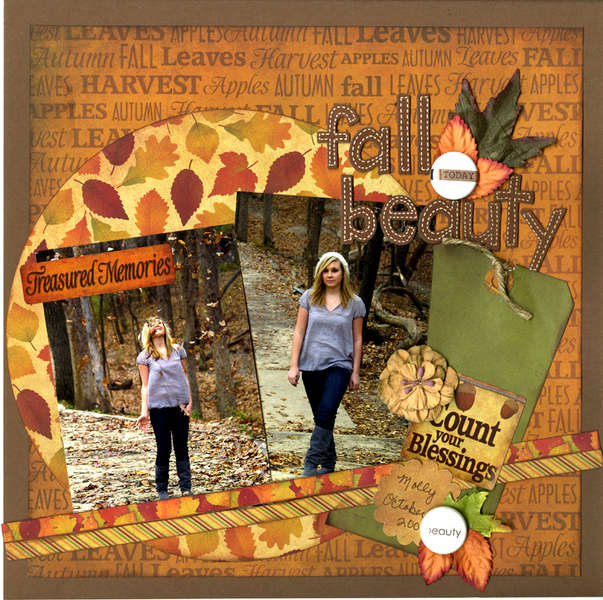 Reminisce Autumn Harvest Fall Layout