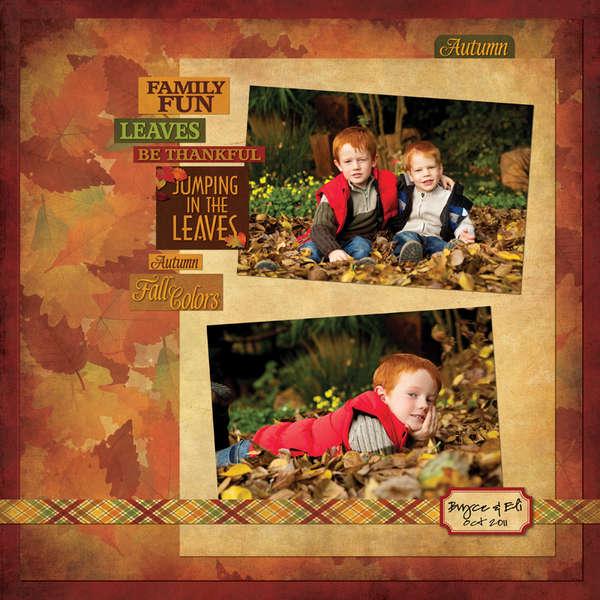 Reminisce Autumn Harvest Fall Layout