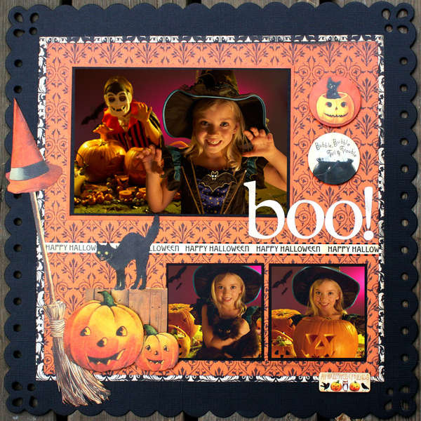 Reminisce Hallowe'en Layout