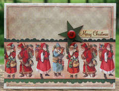 Reminisce Here Comes Santa Card