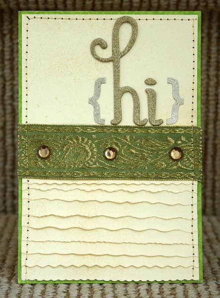 Hi Card *Purple Cows/Helmar Adhesives*