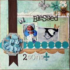 Blessed With 2 Sons *Creative Imaginations/Petaloo*
