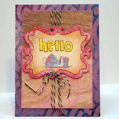 Hello Card *Creative Imaginations*