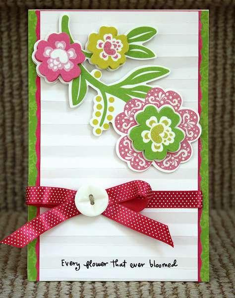 Flower Card *Purple Cows/Helmar Adhesives*