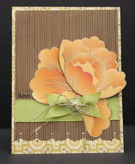 Large Flower Thanks Card