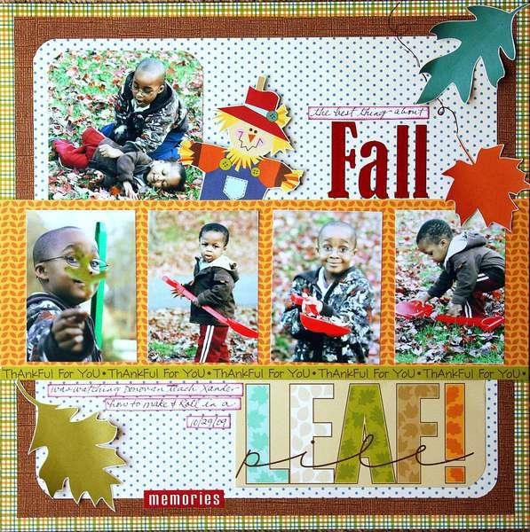 Leaf Pile *Gonescrapbooking/Examiner*
