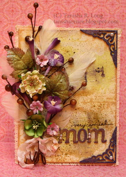 Mom Altered Canvas *WOW Embossing Powders*