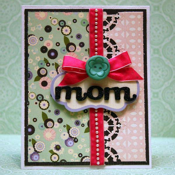 Mom Card *Purple Cows*
