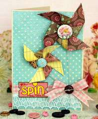 You Spin Me 'Round Card *Pink Paislee Featured Designer*