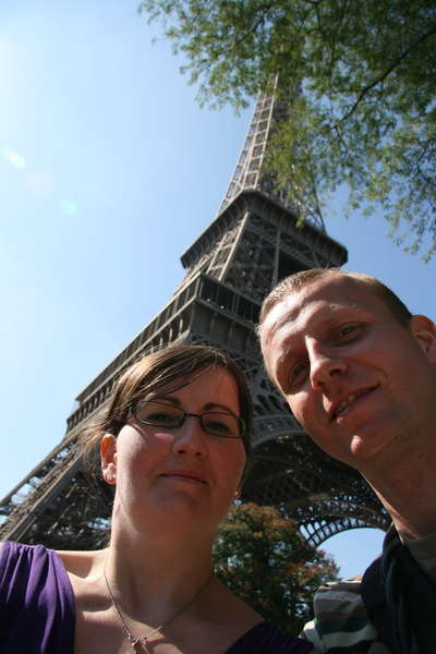 me and my husband in Paris
