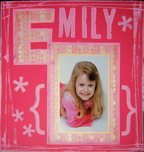 Emily - paint & chipboard