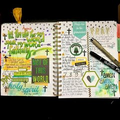 Faith Planner pages by Karen Hunter