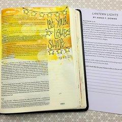 Bible Journaling  - Let Your Light Shine