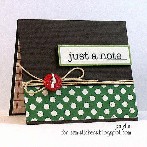 Just A Note - Mini Card
