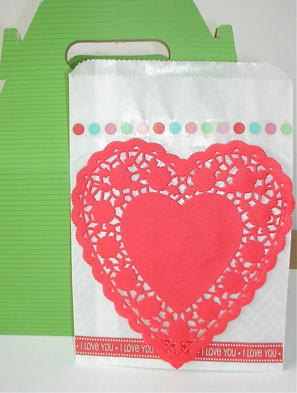 Love Embossed Bag with Doily