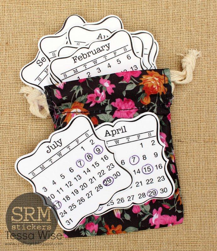 Mini Planner Calendar in a Bag! by Tessa Wise
