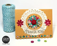 Pair of Ribbon & Doily Cards
