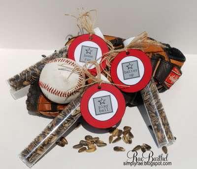 Baseball Team Treat TUBES - by Rae Barthel