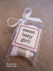 'Sweet Baby Girl' baby shower favor or gift