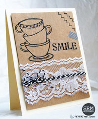 Smile Stamped Card