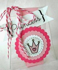 Pretty Princess clear purse party favor