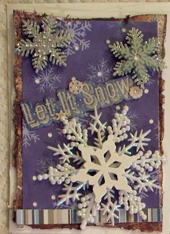 Christmas 2013 - Let It Snow card