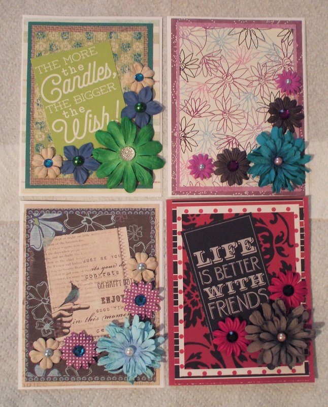 2016 Floral Birthday Cards lot 2