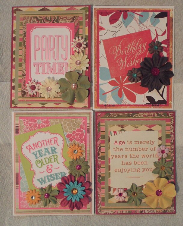 March/Spring 2016 Floral Birthday cards