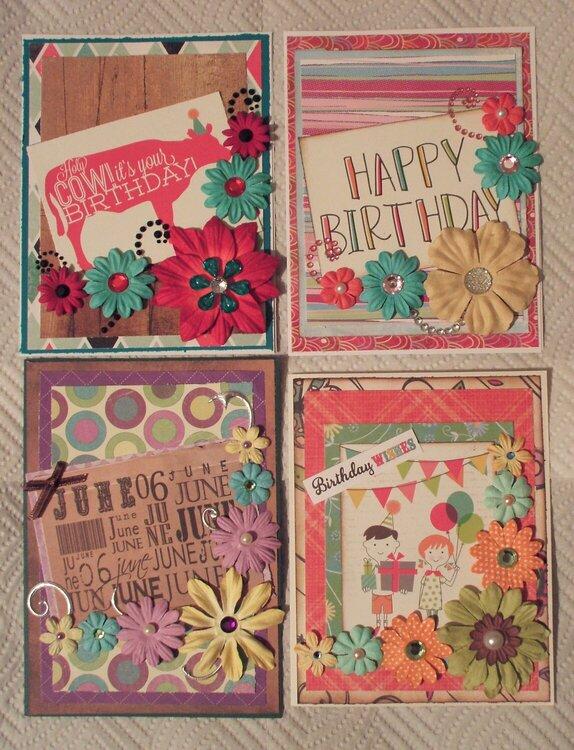 Summer 2016 Floral Birthday Cards