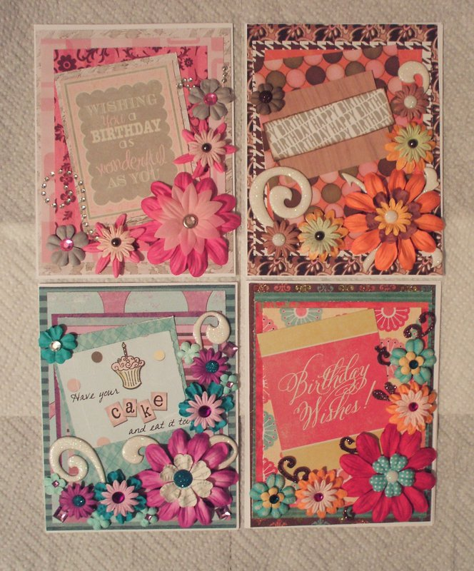 Floral Birthday cards