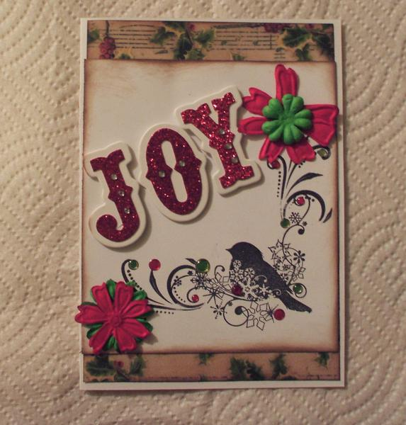 Joy card (brid red green)