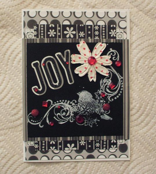 Joy card (Bird..black white)