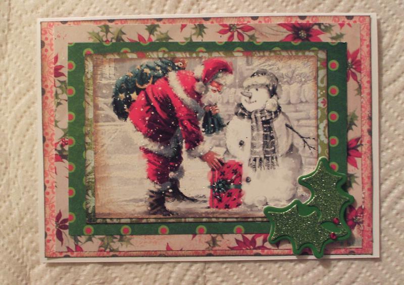 Santa & snowman card