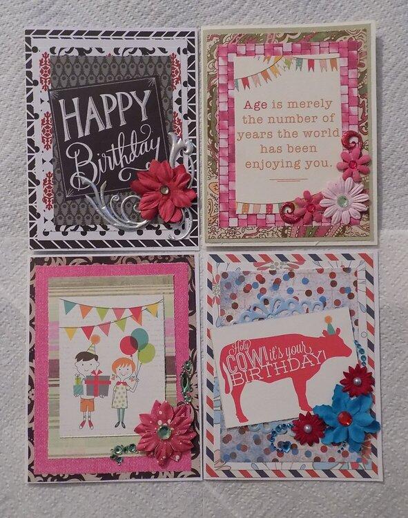 Summer 2017 Birthday Cards