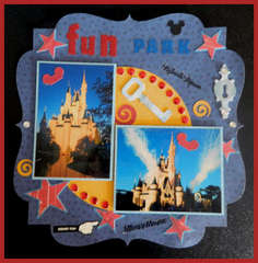 Disney, Fun Park, Scrapbook layout (sketch 014)