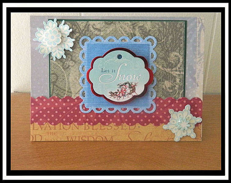 #61 Let it Snow Cricut Christmas Card