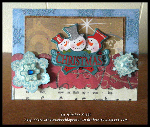 """Snowman with Snowflakes"" Christmas Card"