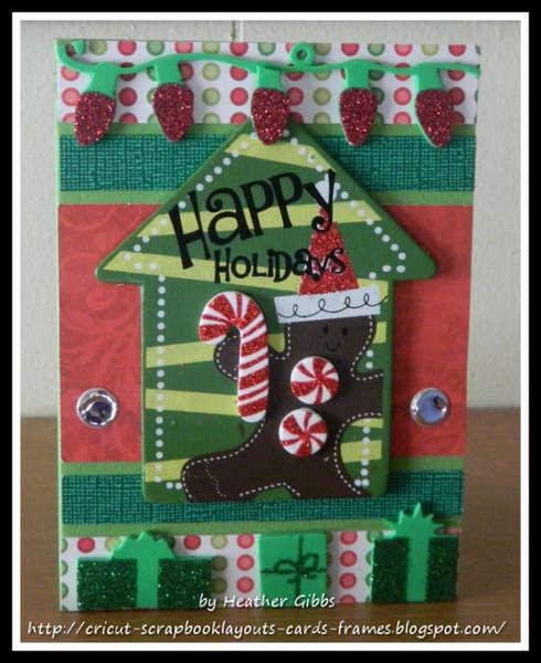 (#13) Happy Holidays Cricut Christmas Card