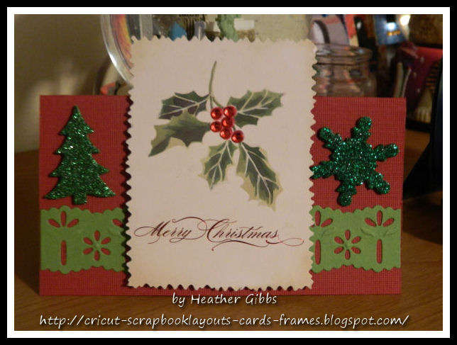 (#24) Topper: Merry Christmas Gift tag card