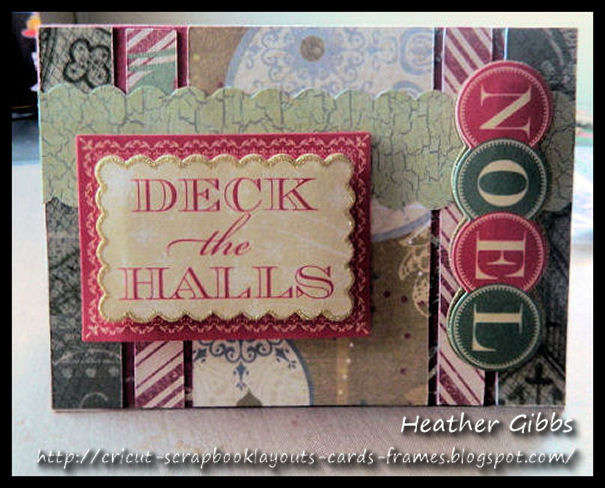 Vintage Christmas card #33, Deck the Halls
