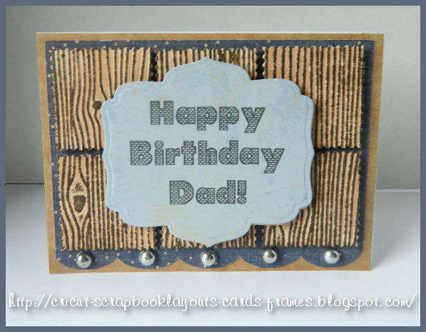 Birthday Card-Wood Grain Embossing