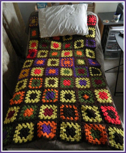 My Grandmother's Granny Square Blanket