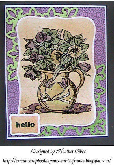 Hello, Perfect Pearls flower Card