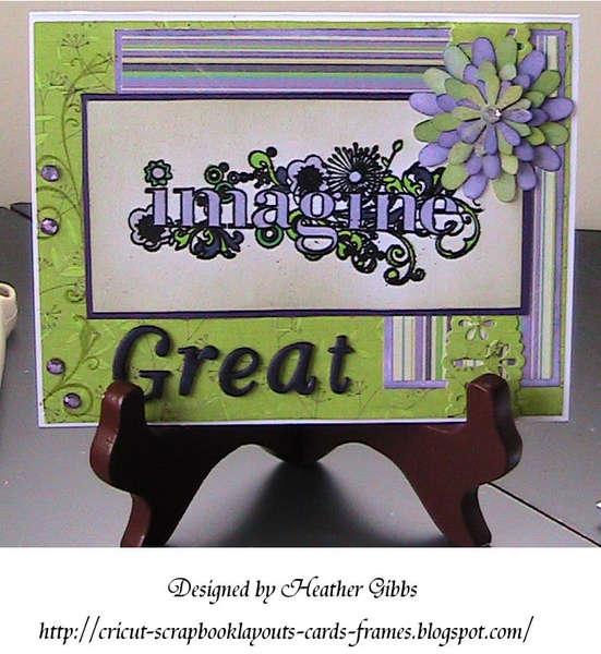 """Imagine Great"" Card (Copic)"