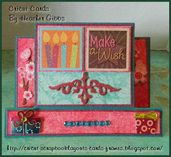 Make a Wish! Birthday Card,Center Step Card